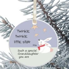 Ceramic Granddaughter Keepsake Christmas Decoration - Twinkle Star Design